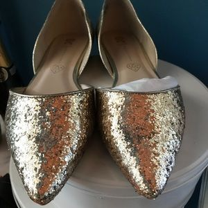 Glitter flats New Years party